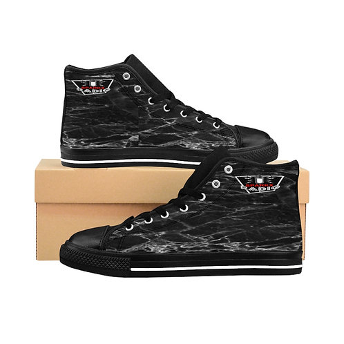 Sparkx Radio Black Marble Men's High-top Sneakers