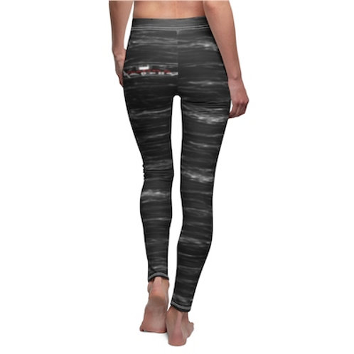Sparkx Radio Black Marble Women's Cut & Sew Casual Leggings
