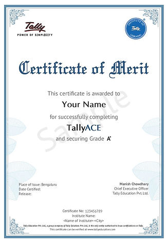 Tally ACE Certificate.JPG