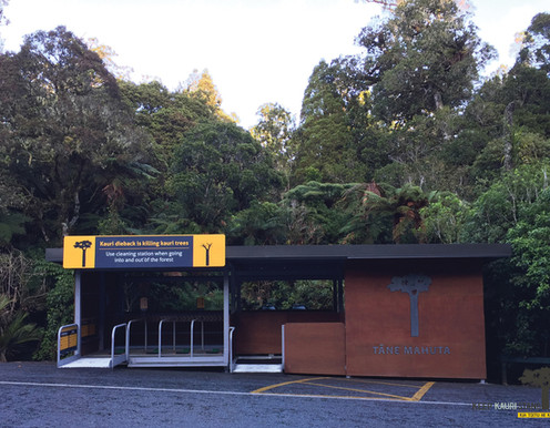 Tane Mahuta DOC Cleaning Station