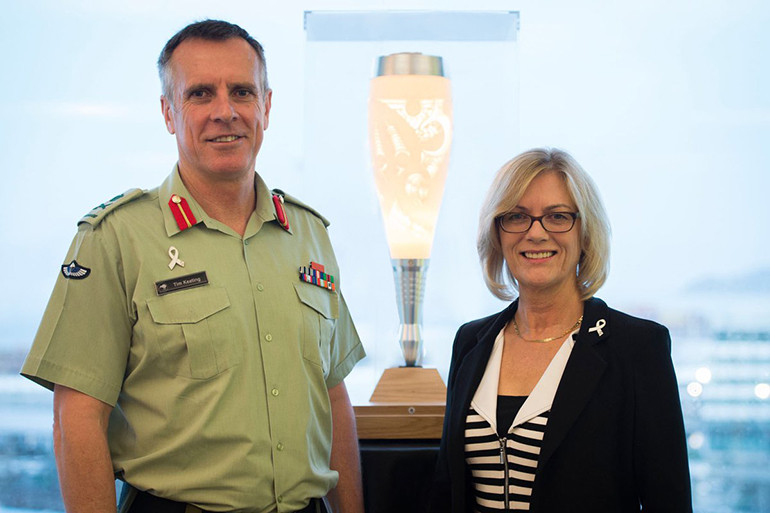 NZDF White Ribbon Torch