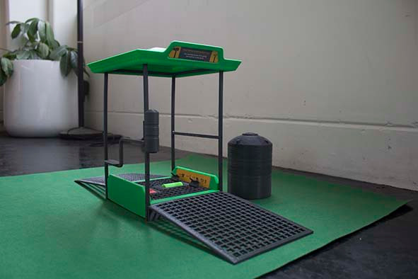 3D printed small scale model of the station