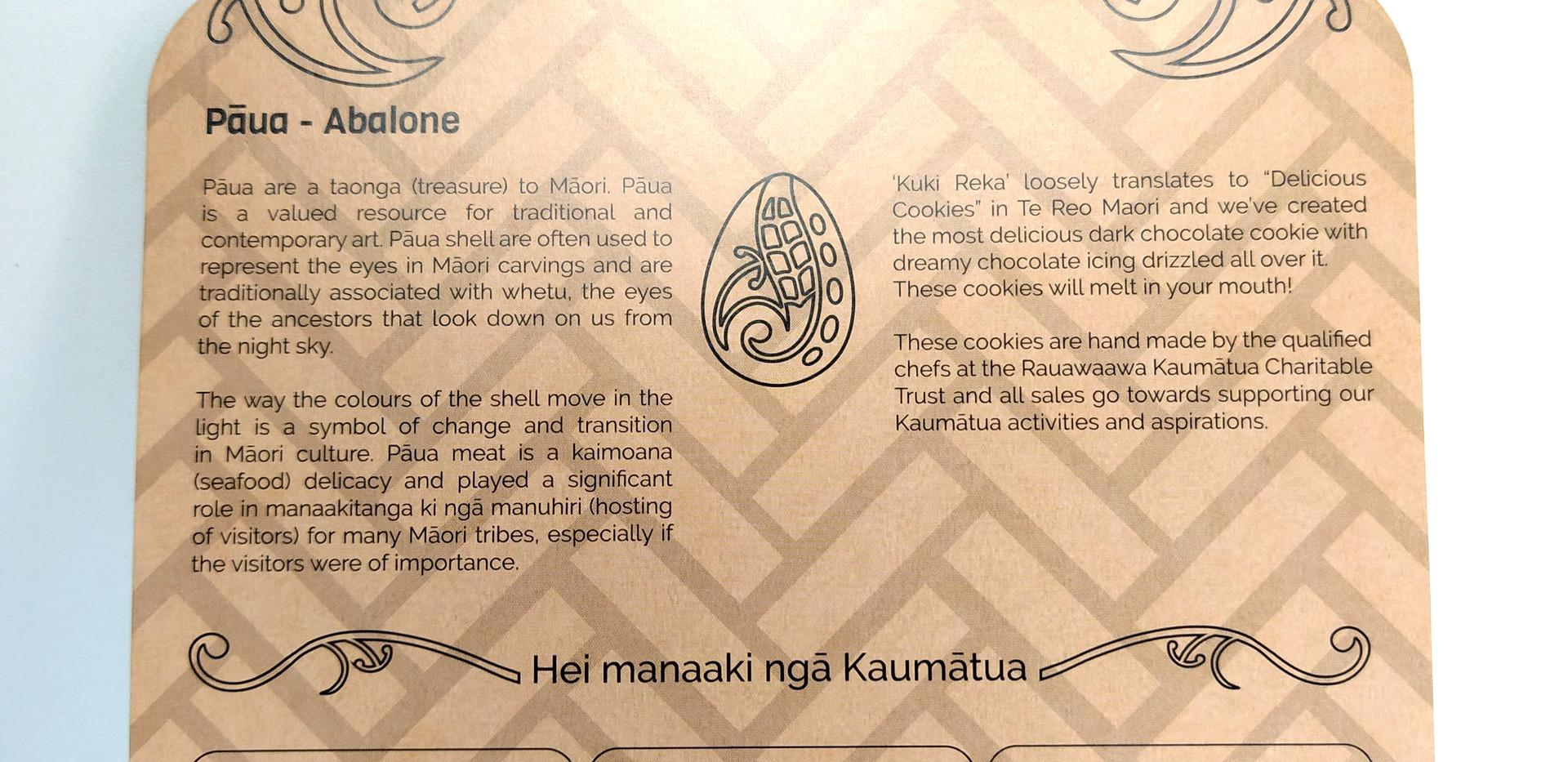 Paua Cookie Packaging