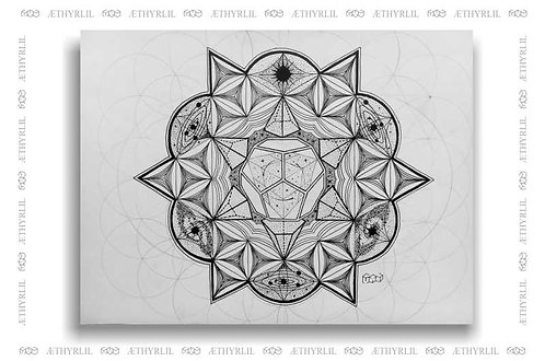 Universo Dodecaedrico - Original - Nanquim sobre papel