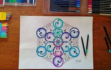 Geometria Sagrada Flor da Vida Aethyrlil