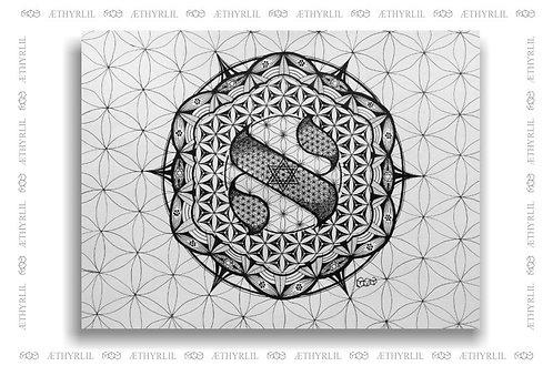 Prime Aleph - Arte Original - Nanquim