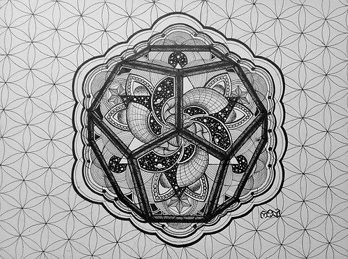 12 Dimensional - Arte Original - Nanquin