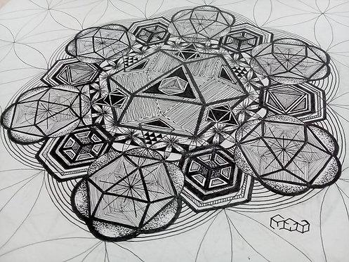 V-Equilibrium - Arte Original - Nanquin