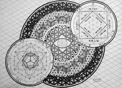 Mecanismo Solar  - Arte Original - Nanquin