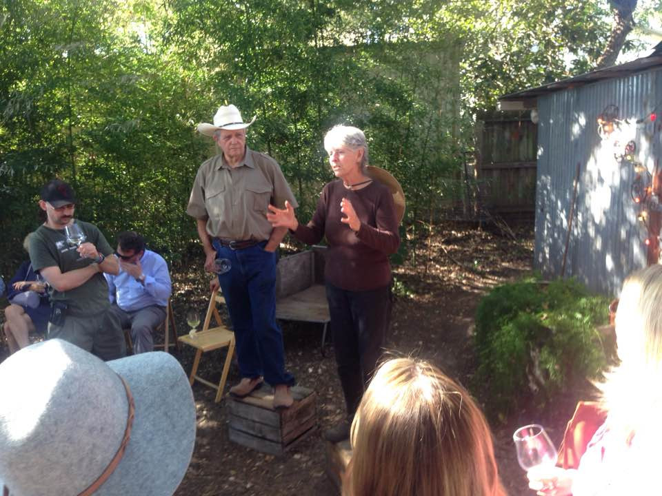 Larry and Carol Ann at Outstanding in the Field