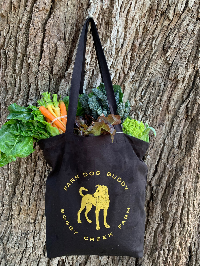 Farm Dog Buddy Tote with Fresh Produce.j
