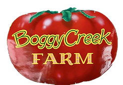 Boggy Creek Farm Welcome Sign