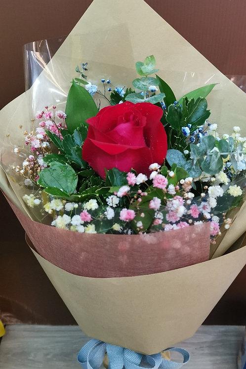 Only U ( *Premium Rose with Rainbow Gypsohila)