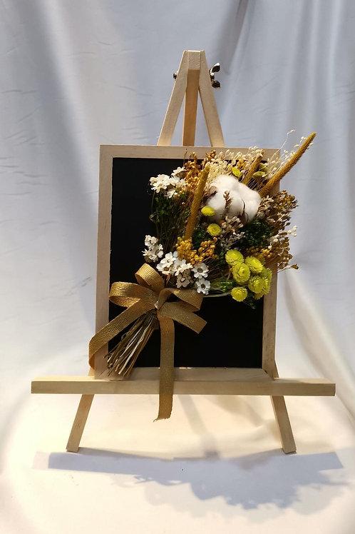 Desktop Portrait Preserved Cotton & Dried Flower