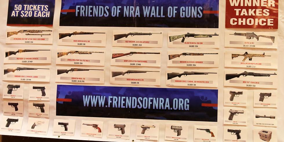 Wall of Guns Raffle