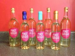 Pinot Grigio in bottles