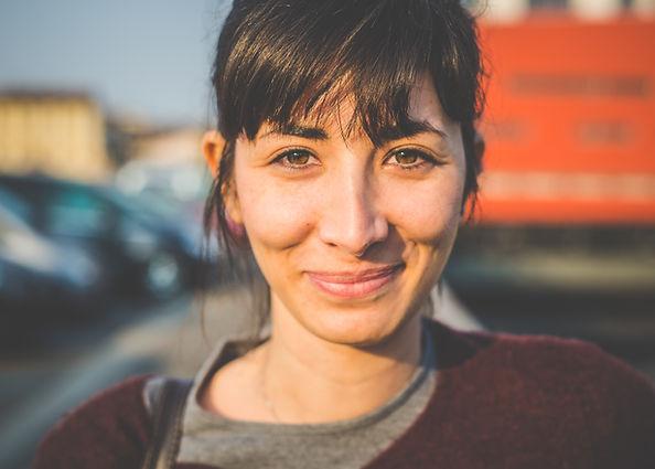 Retrato de una mujer sonriente