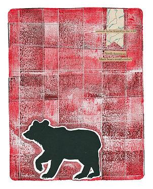 Plaid Bear 1 Mixed Media