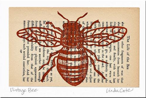 Vintage Bee Card