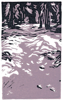 LINDA COTE-Forest Shadows Reduction Linocut
