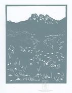LINDA COTE-Three Sisters Meadow Linocut