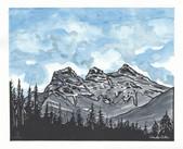 LINDA COTE-3 Sisters Watercolor