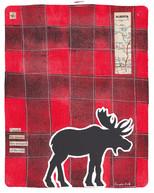 LINDA COTE-Plaid Moose Mixed Media 1