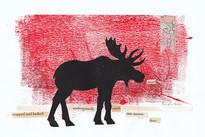 LINDA COTE-Canadian Moose Mixed Media
