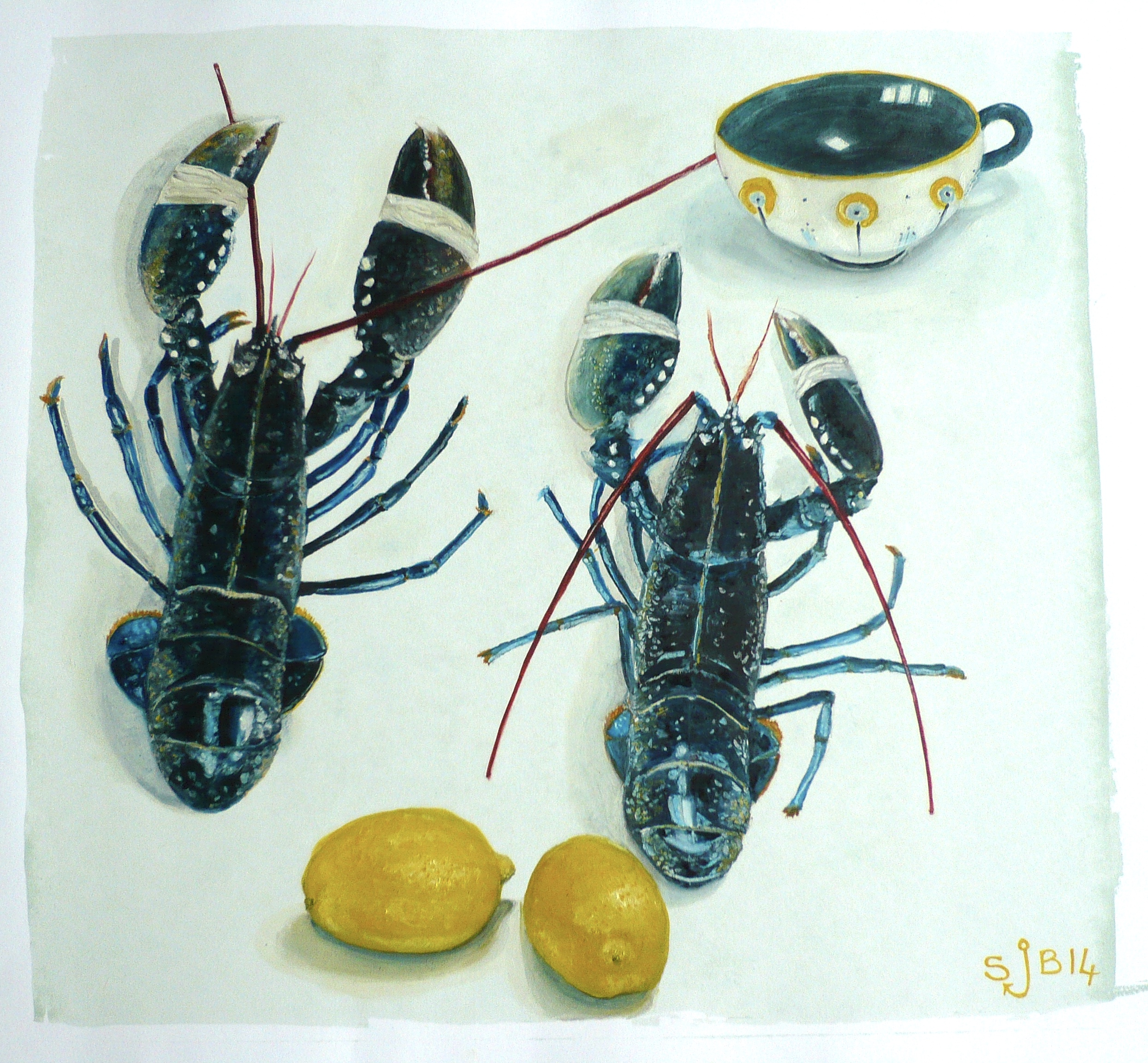 Two Lobsters, Two Lemons