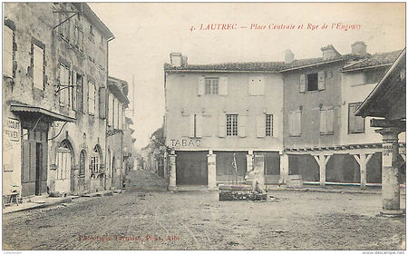 Lautrec_-_Place_centrale_et_rue_l'engous
