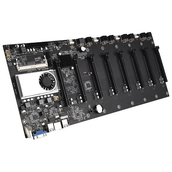 Riserless Mining Motherboard 8 GPU Bitcoin 1066/1333/1600MHz