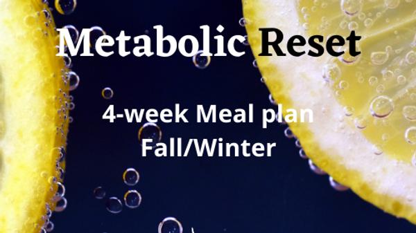 Metabolic Reset Meal Plan Fall/Winter