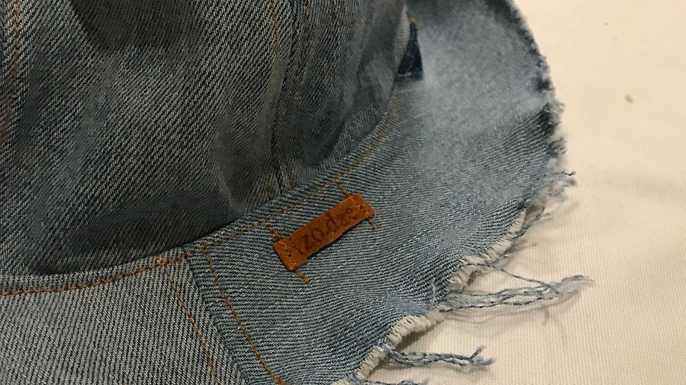 "Up-cycled Denim Buckets ""Blue"""