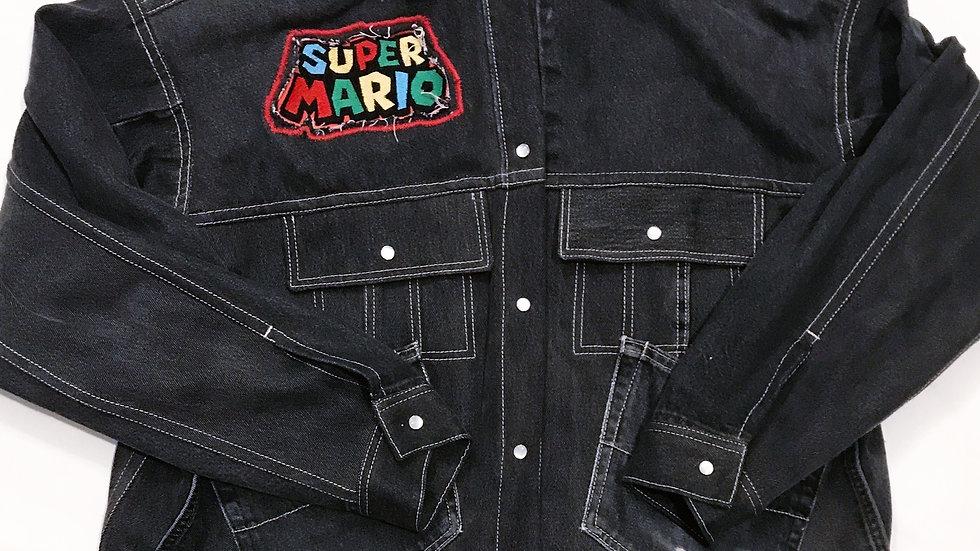 Super Mario Up-cycled Denim Jacket