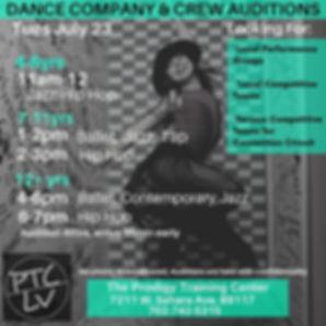Prodigy Training Center Company Audition