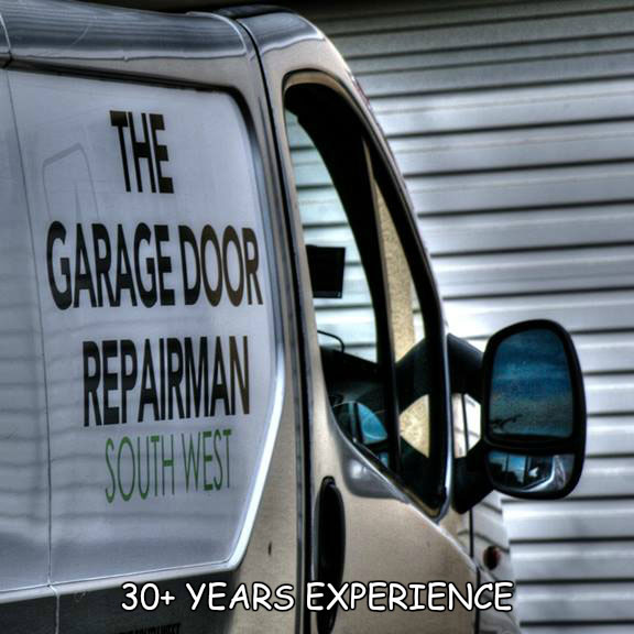 garage door repairman van