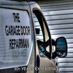 garage door repairman van