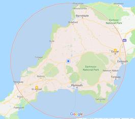 Map Of Area Covered By Garage Door Repairman