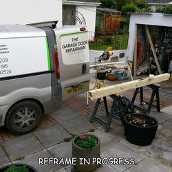 timber garage door frame