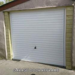 garage door re-framed
