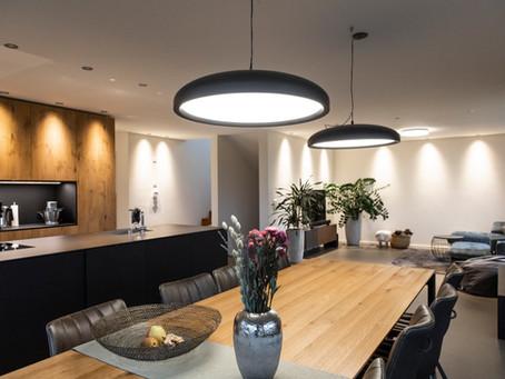 Lichtakzente für modernes Einfamilienhaus im St. Galler Rheintal