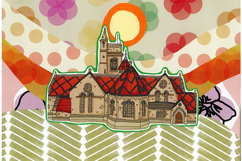 Collage Art Print: Hartlepool Art Gallery