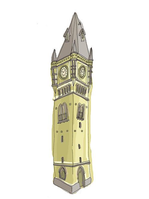 Art Print: Darlington Town Clock