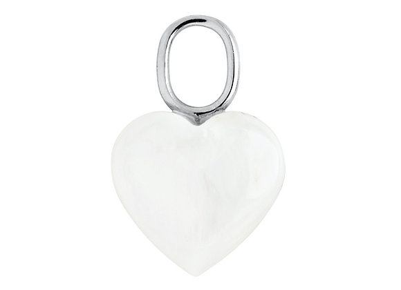 Mother Heart Charm - Sterling Silver