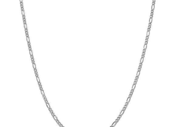 Figaro fine necklace - silver
