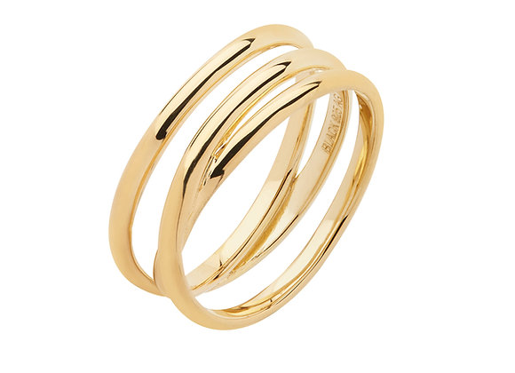 Emilie wrap ring - 18k gold plated