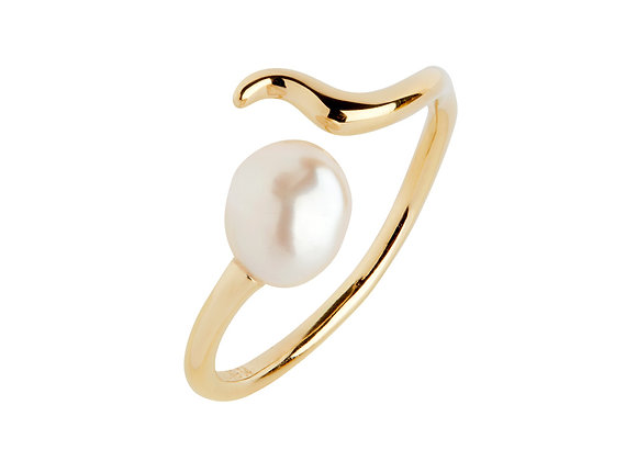 Moon shine ring - gold plated