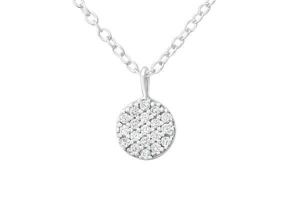 round necklace - sterling silver