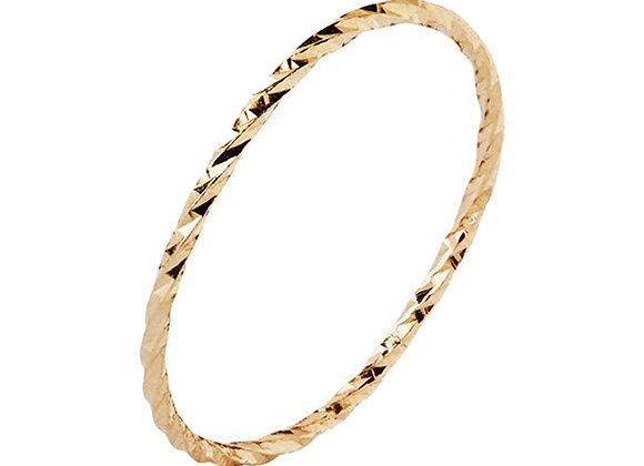 Diamond Cut Ring - 14k Yellow Gold