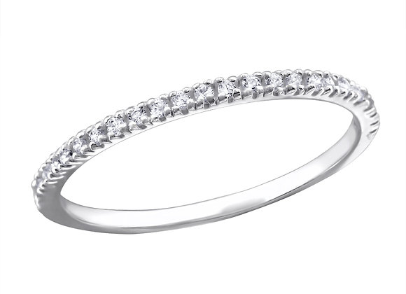 eternity basic ring - sterling silver